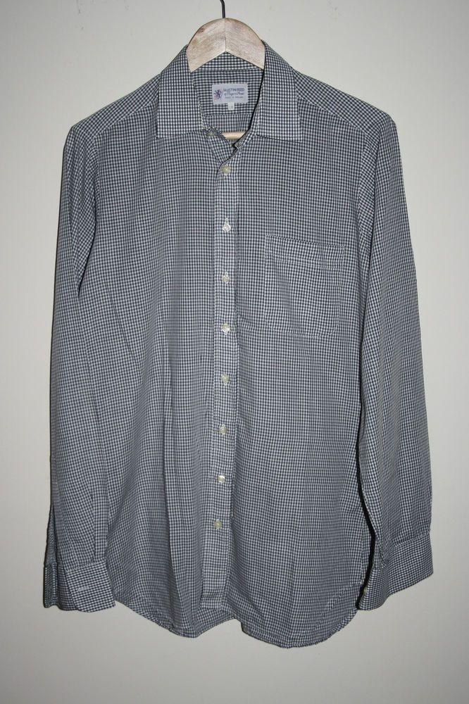 9524d2d2d Austin Reed Fashion Designer Men s Classic Shirt Check Grey Cotton Blend  Size L