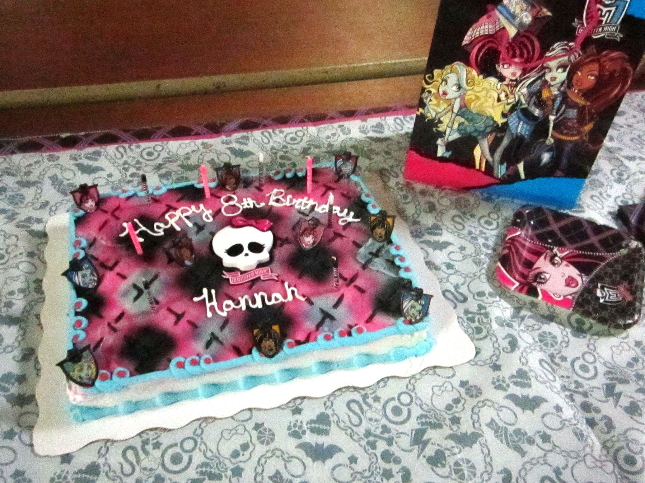 Monster High Birthday Cake design available at Walmart Monster