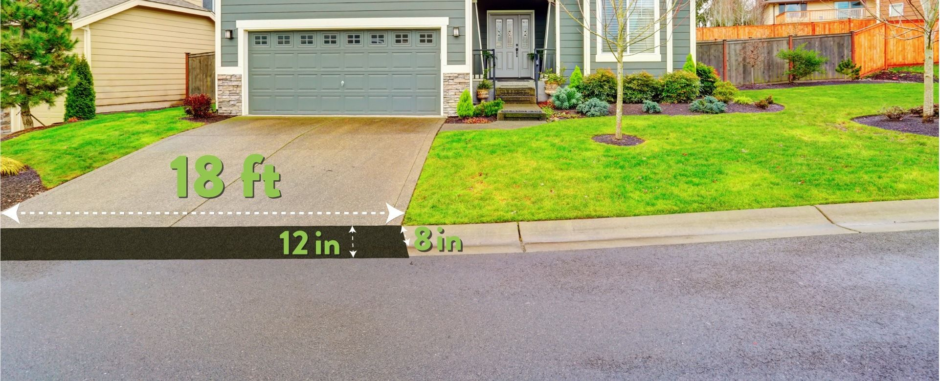 Curb Ramp Coverage The Number Of 9 Sections Required Depends Primarily On The Width Of Your Driveway And Depth Of The Curb Ramp Driveway Ramp Diy Driveway