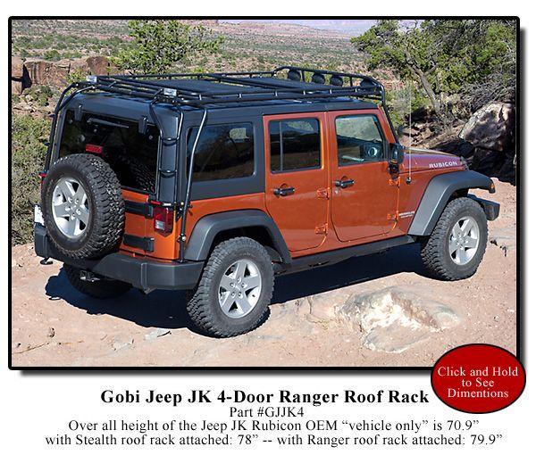 Gobi Jeep Wrangler Jk Unlimited 4 Door Ranger Roof Rack Free