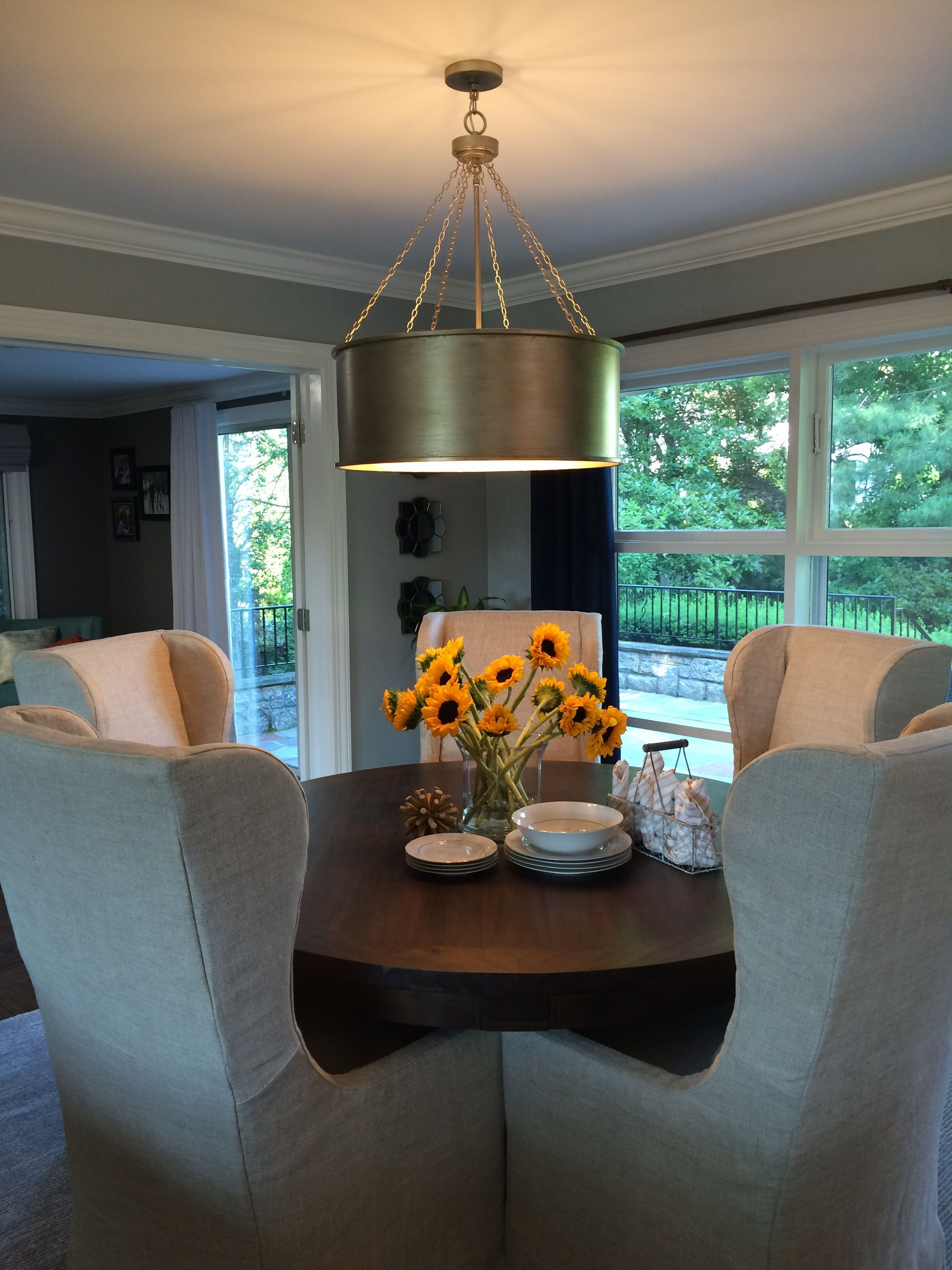 Savoy House Rochester Pendant In Silver Patina From Monique And Carl S Dining Room On Property Brothers