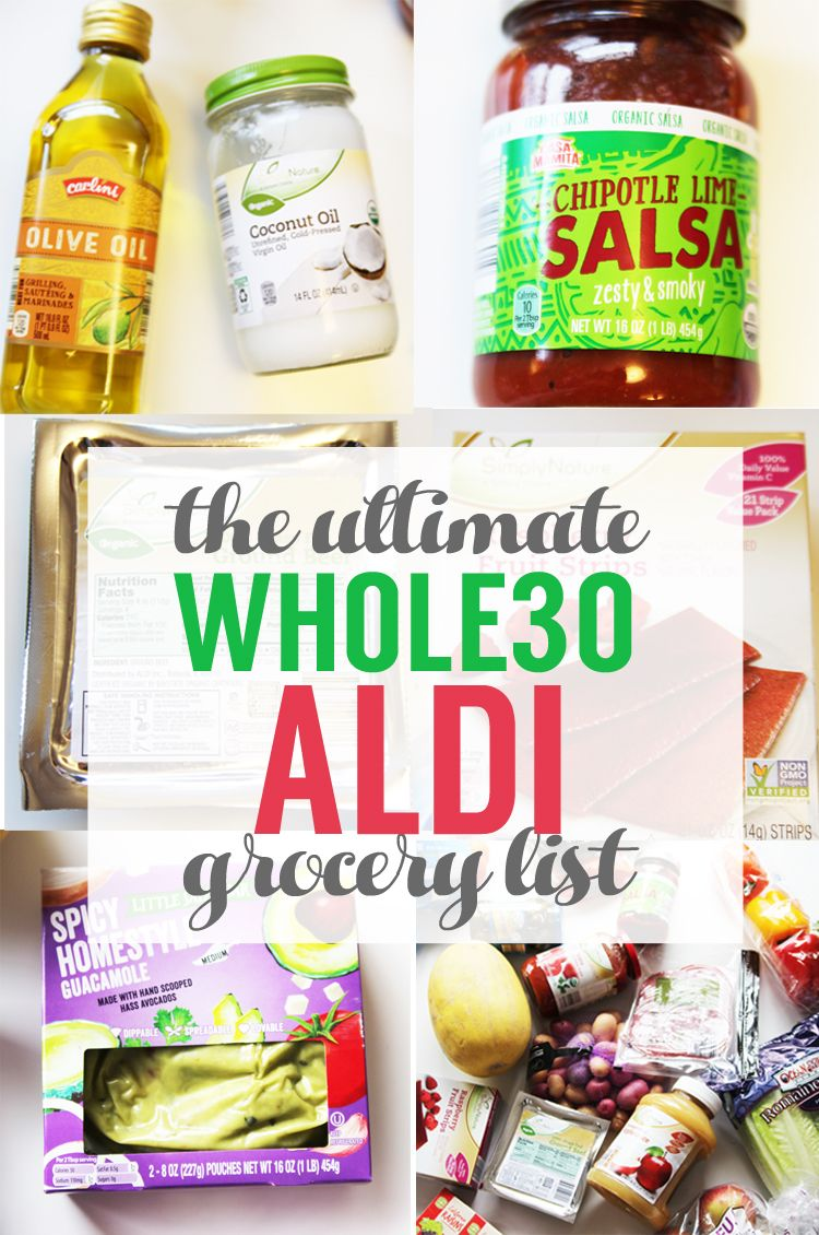 The Ultimate Aldi Whole30 Shopping List Homemade Ginger In 2020 Whole 30 Meal Plan Whole 30 Diet Whole30 Shopping List