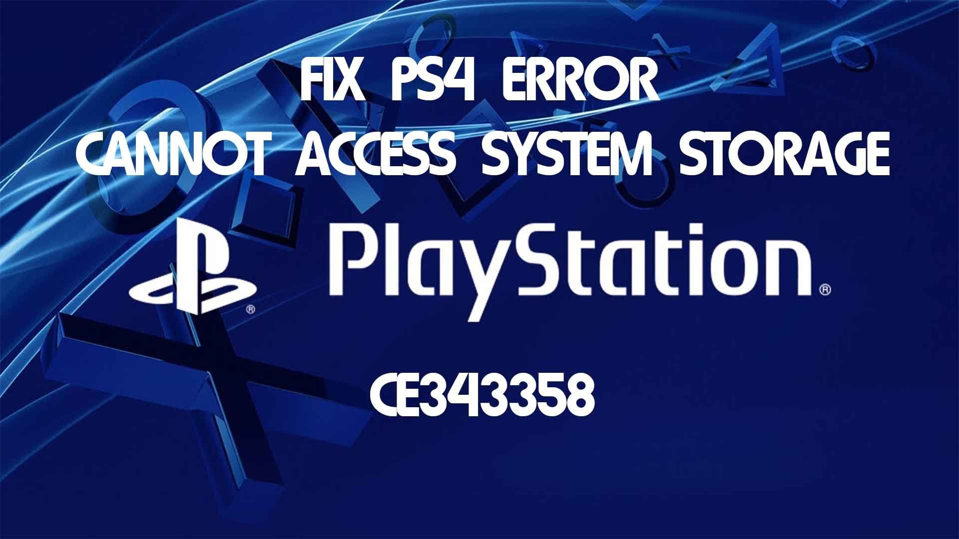 In This Video We Show You A Possible Fix For The Ce 34335 8 Error The Sony Playstation 4 Has Been Having Since Launch Ce Playstation Sony Playstation Tutorial