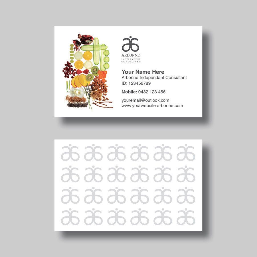 arbonne business card organic  digital design