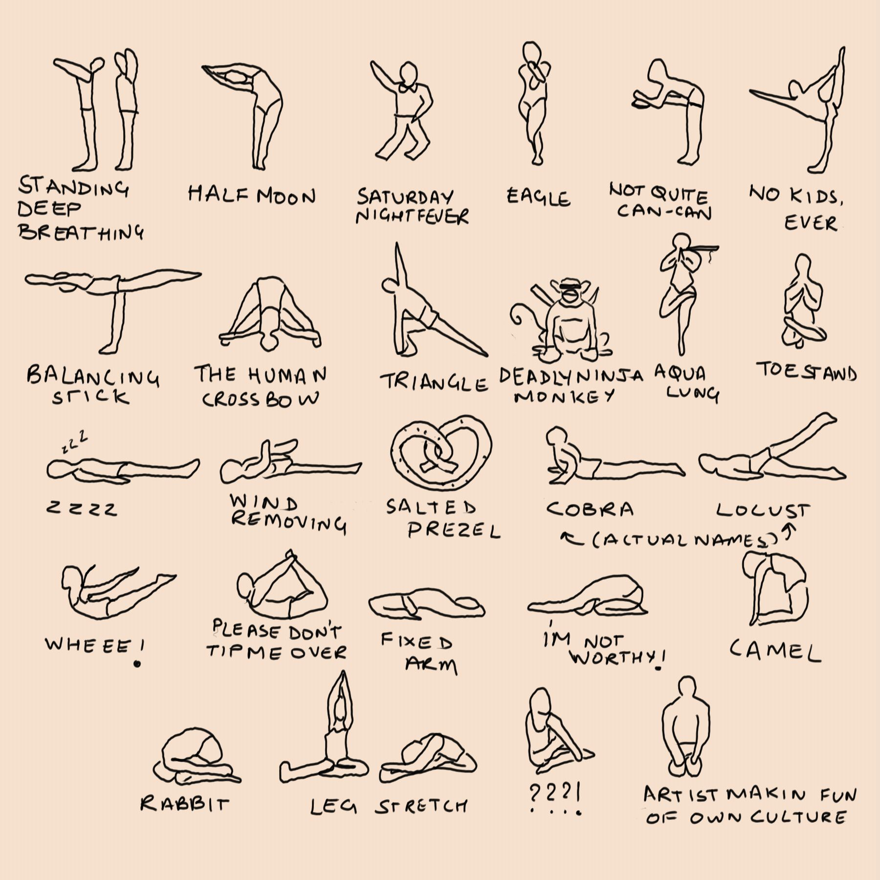 Actual Names For Yoga Poses