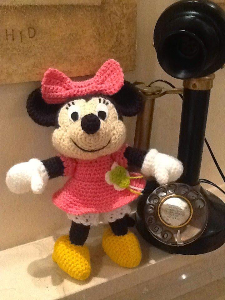 minnie mouse | amigurumis personajes | Pinterest | Stricken häkeln ...