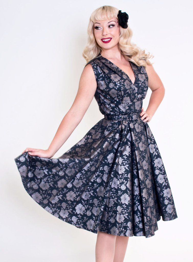 Milan Dress - Shimmer Garden Smoke - Heart of Haute - 1   Vintage ...