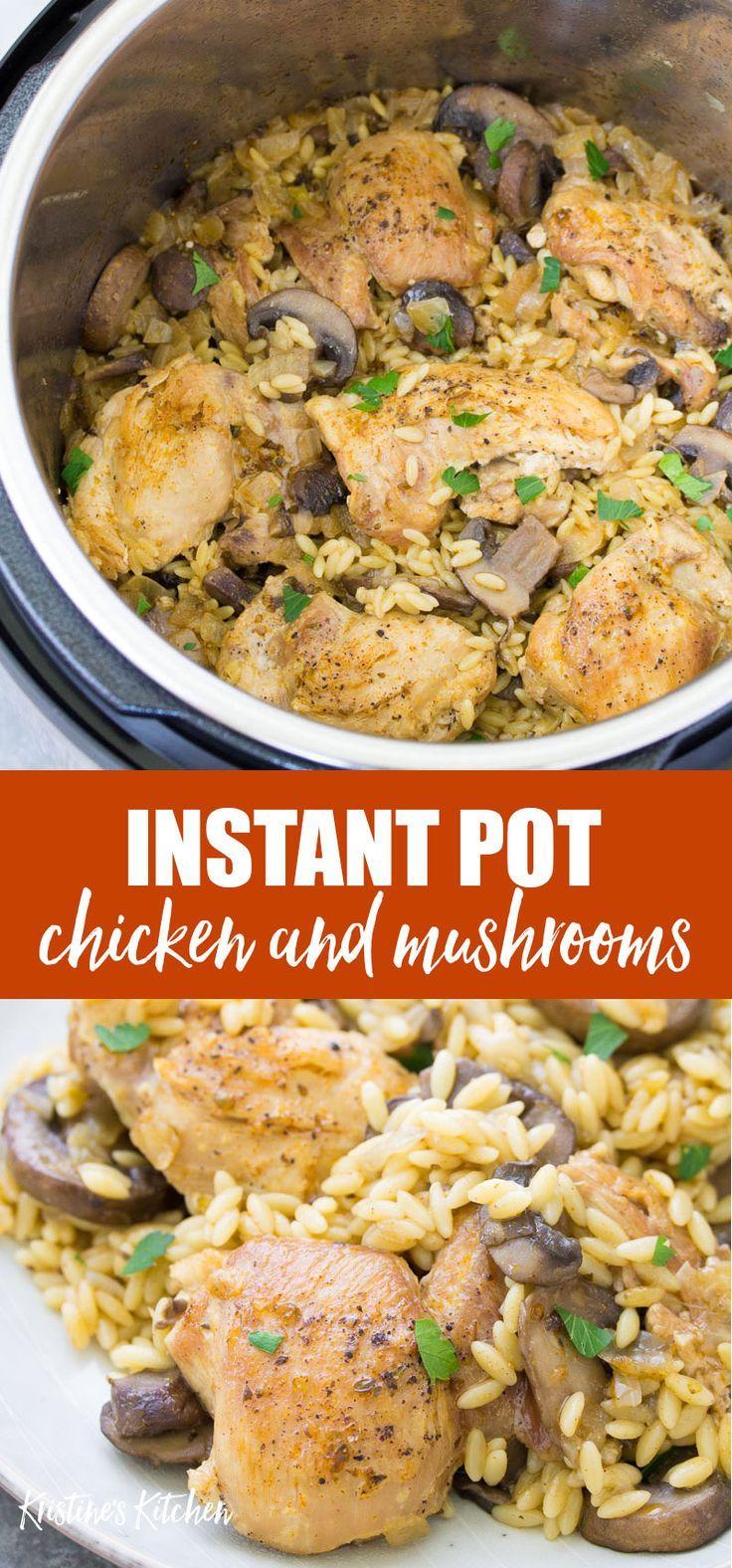 Instant Pot Chicken and Mushrooms -   19 healthy instant pot recipes chicken easy ideas