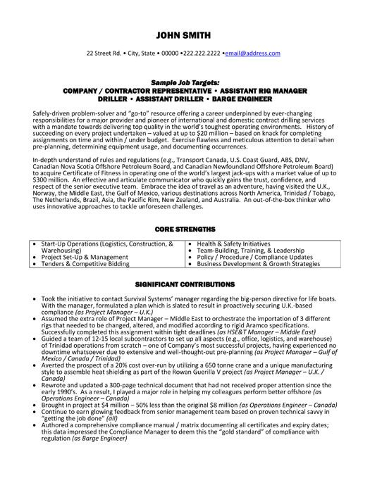 Contractor Representative Resume Template Premium Resume Samples Example Resume Examples Resume Objective Examples Resume