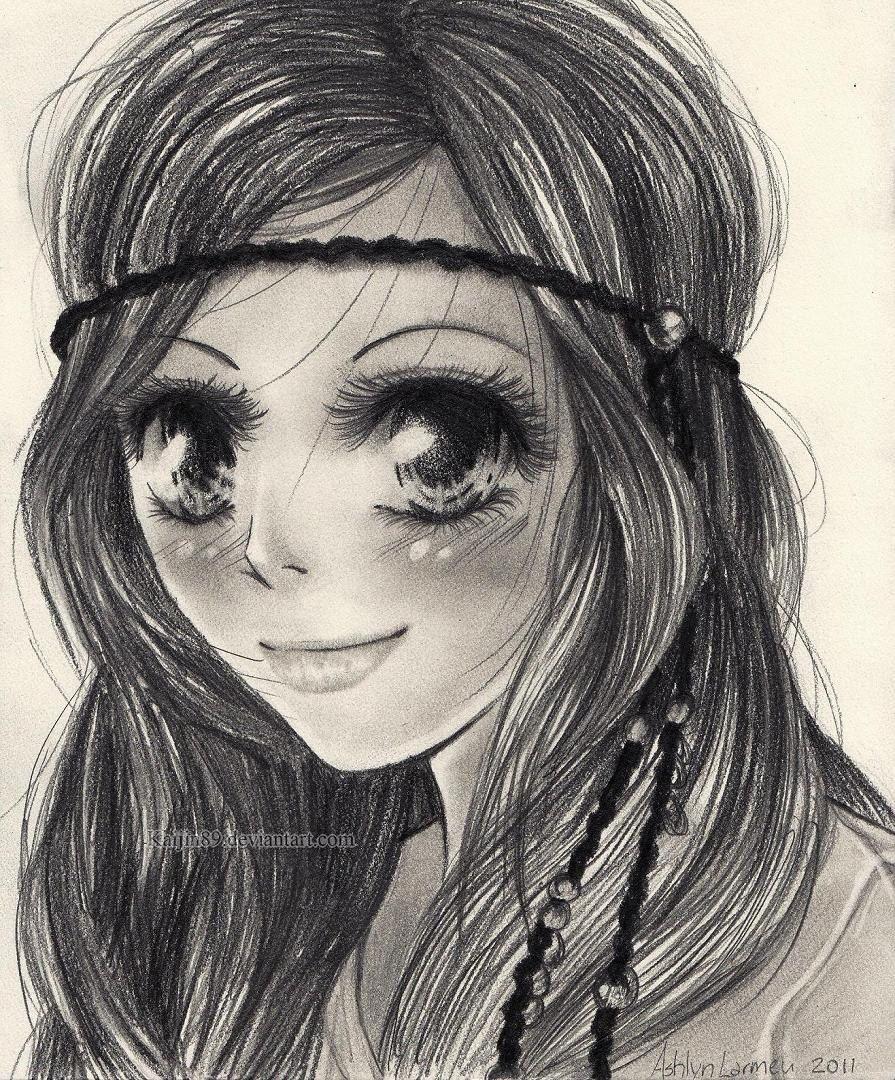 Custom anime pencil sketch 15 00 via etsy see the artists website here