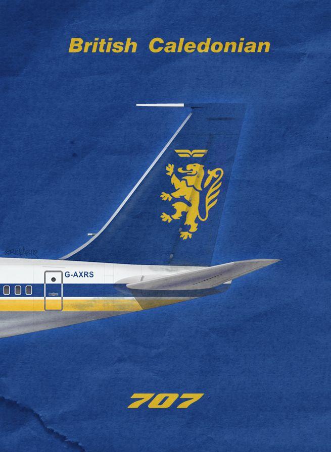 BCAL British Caledonian Airlines 707, by Rick Aero www.Facebook.com/VintageAirliners www.VintageAirliners.com