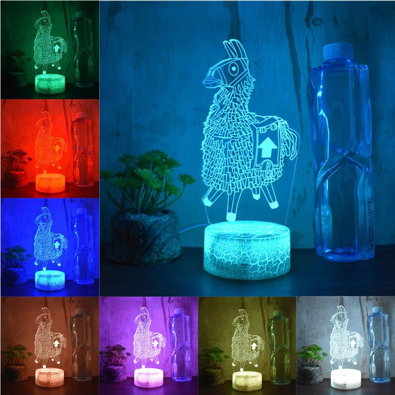 Battle Royale Game Fortnite 3d Led Night Light Action Figure Remote Table Lamp Battle Royale Game 3d Led Night Light Fortnite