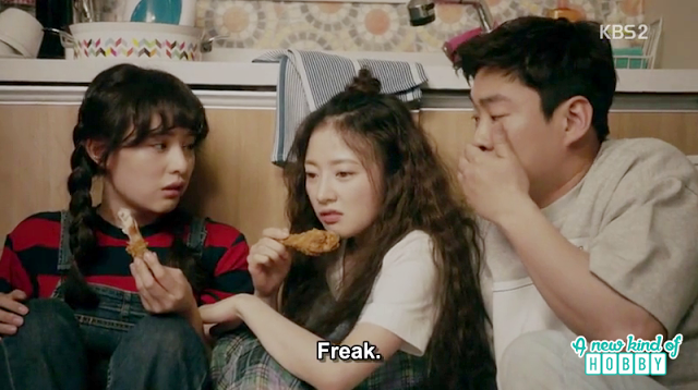 seol hee, ae ra and joo man hide in dong man kitchen - Fight