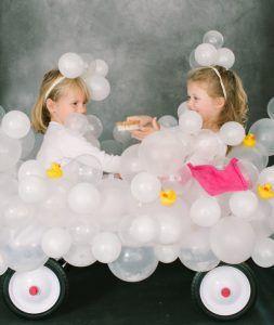Schaumbad Kostüm selber machen   Kostüm Idee zu Karneval, Halloween & Fasching