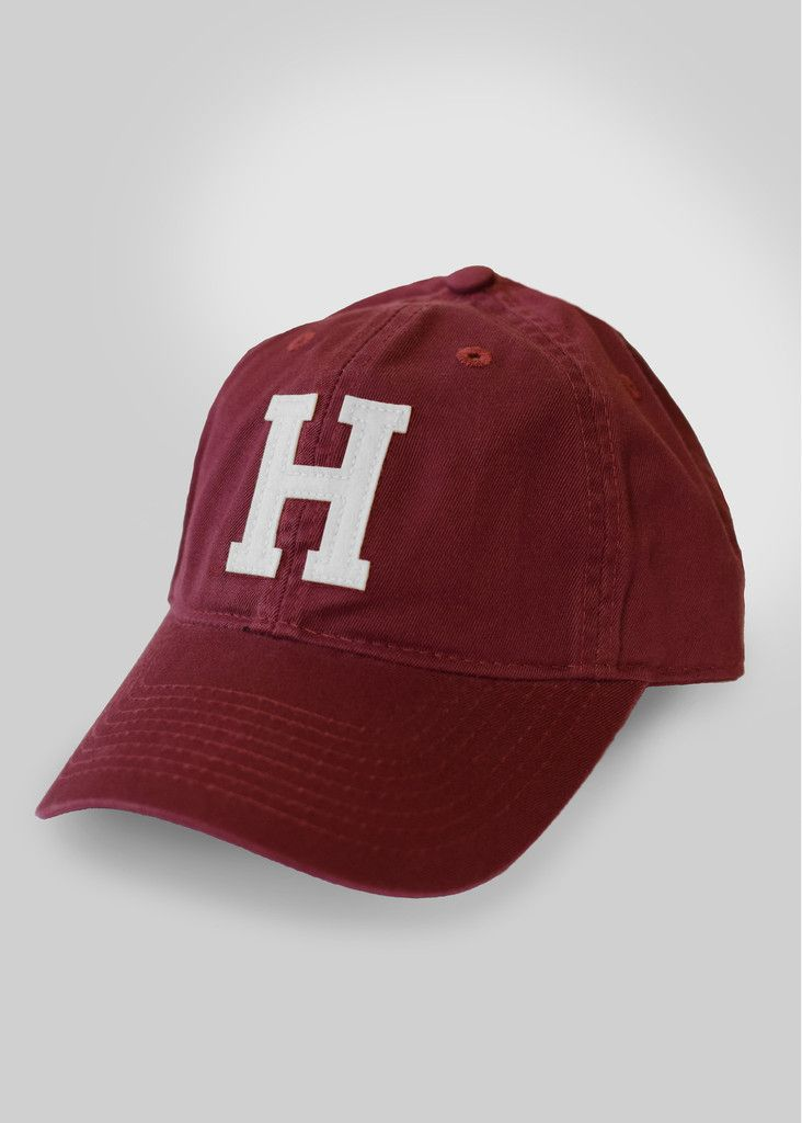 official harvard fitted h hat crimson birthday