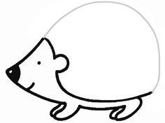 Dessin De Herisson 8 Hedgehog Drawing Fall Crafts For Kids