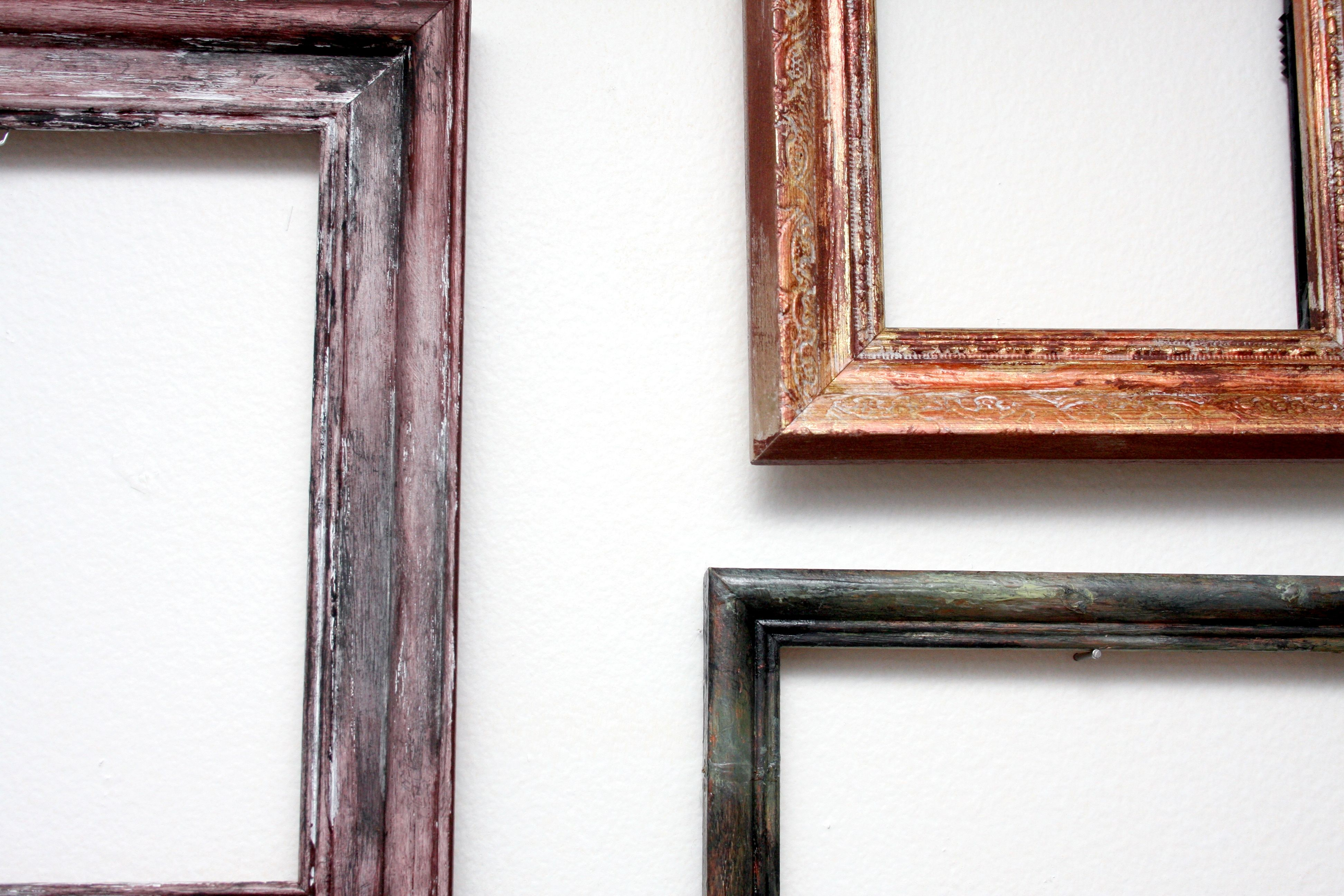 Inspired from Anthropologie. Bought old frames from Goodwill, sanded ...