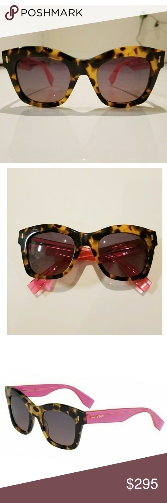 3e2cc15be672 Fendi square colorblock acetate sunglasses A beautiful pair of FENDI  leopard print and hot pink shades