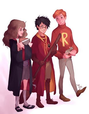 WallPotter: Harry Potter, Hermione Granger, Ronald Weasley