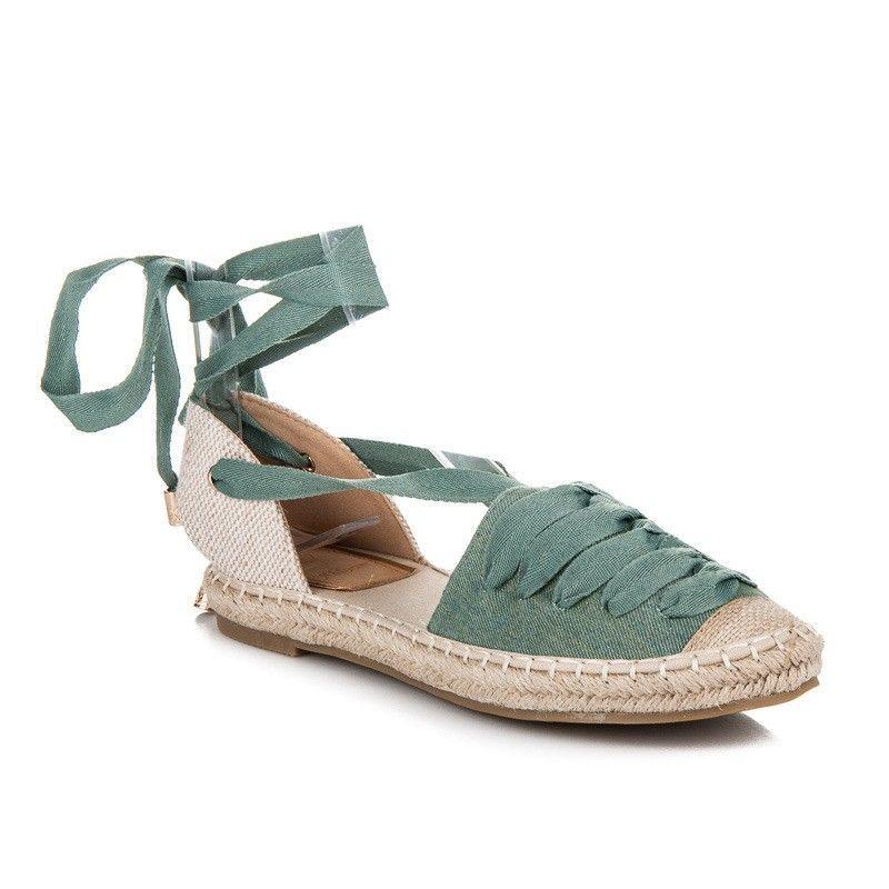 a56ed110c77f7 Šnurovacie sandále espadrilky LX-06GR | Dámske sandále