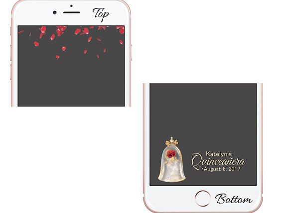 Quinceañera Snapchat Filter Beauty and the Beast Geofilter - copy blueprint events snapchat