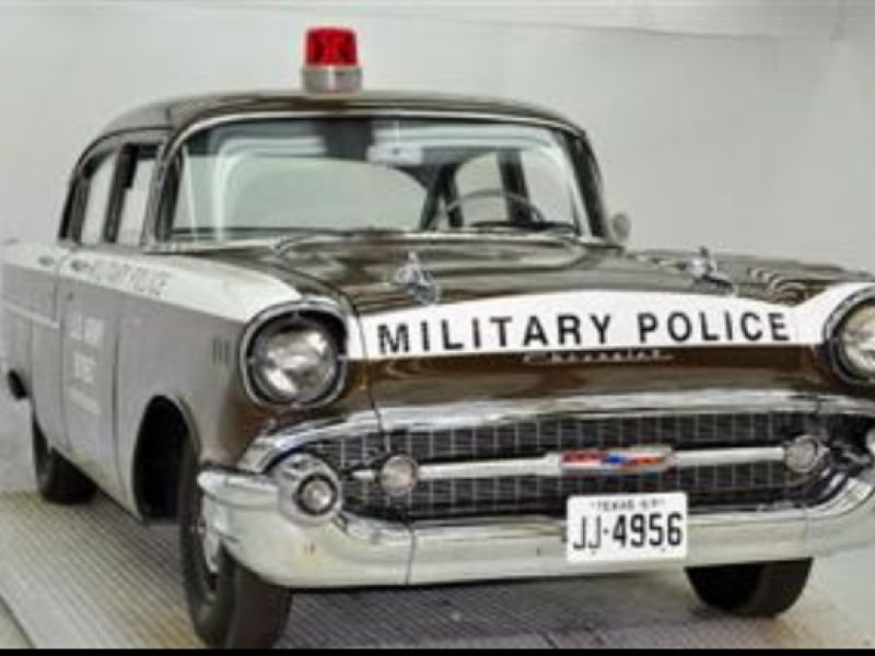 1957 chevrolet u s army military police police old police cars1957 chevrolet u s army military police