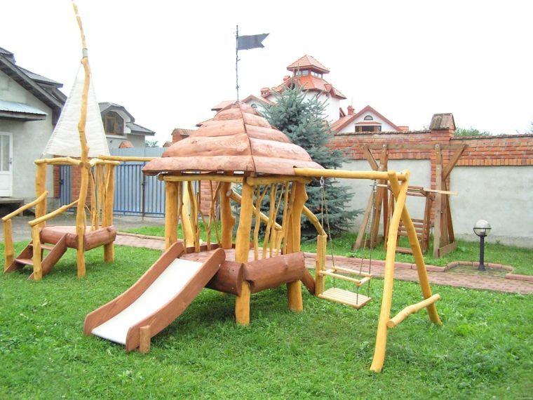 Exceptionnel Comment fabriquer une aire de jeux extérieur en 50 idées  RD43