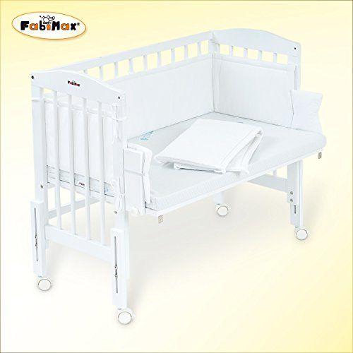 fabimax beistellbett pro weiß mit matratze comfort und nestchen, Hause deko