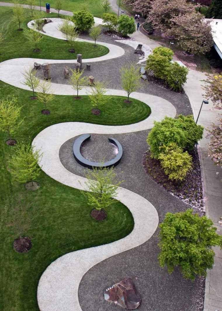 Modèle de jardin avec galets en 26 exemples inspirants   Site plan ...