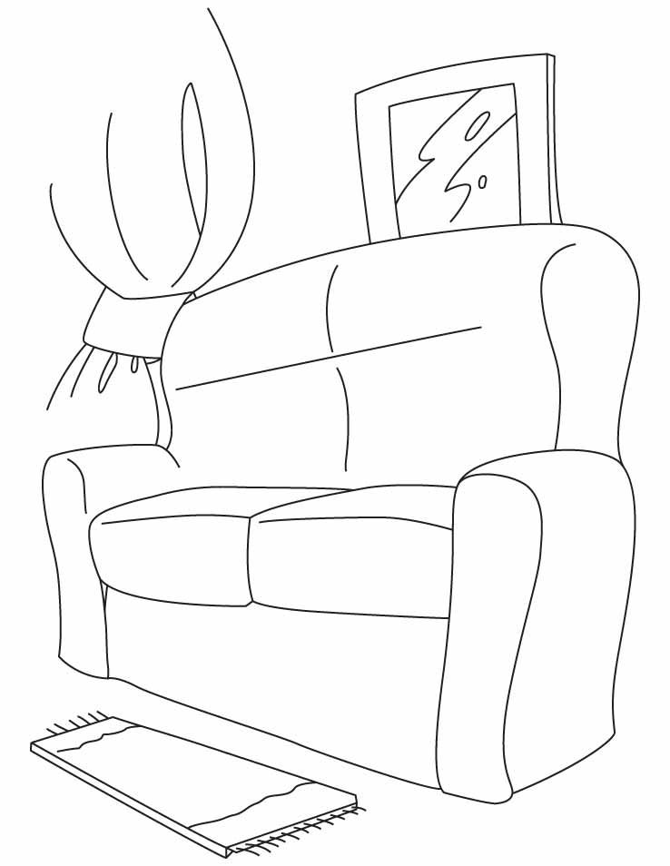 Couch Coloring Pages Sketch Coloring Page Comfy Couch The Big Comfy Couch Free Couch