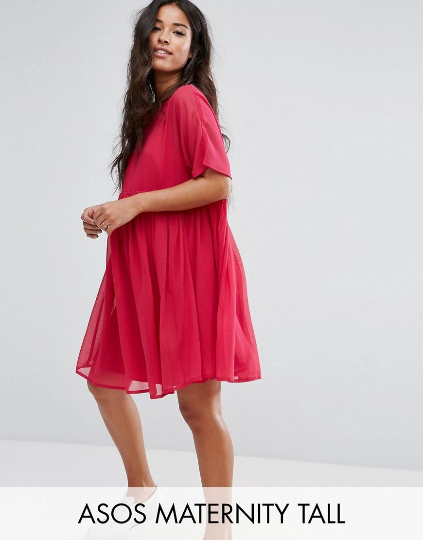 36c8e6eaf1368 Maternity TALL Woven Smock mini dress | Products | Asos maternity ...