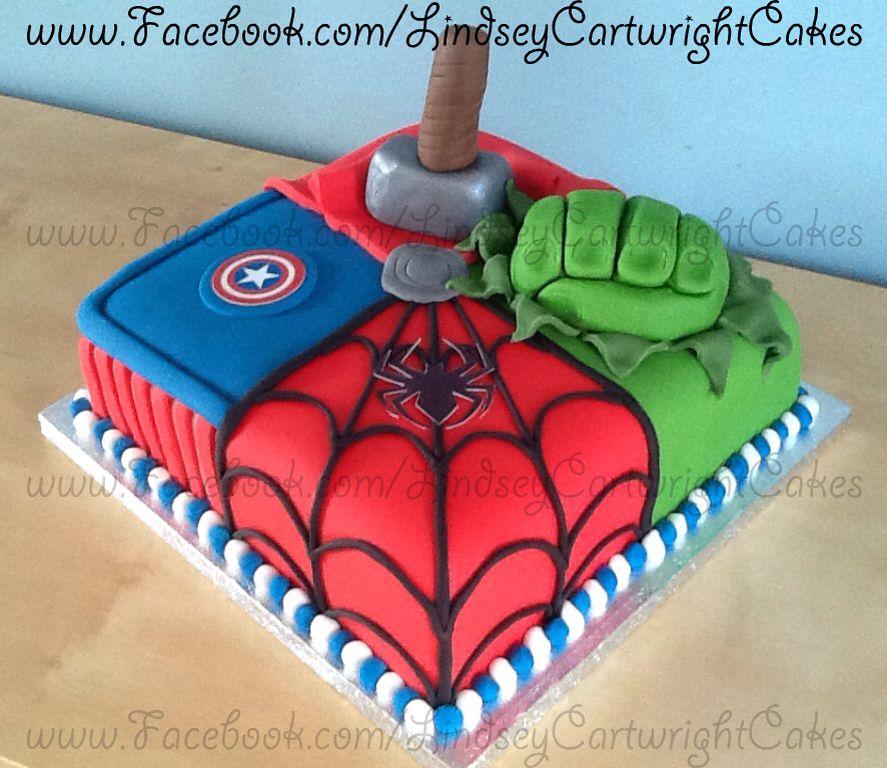 Square Marvel Avengers Cake Marvel Avengers Cake Avenger Cake
