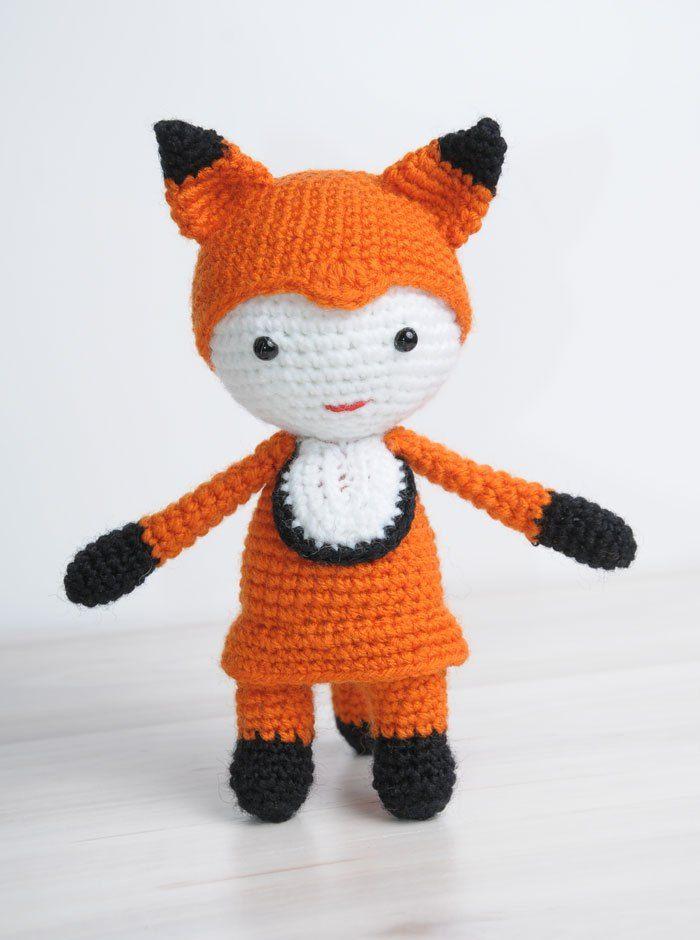 Muñeco disfrazado de zorro - Patrón gratuito | Mi próximo gran ...