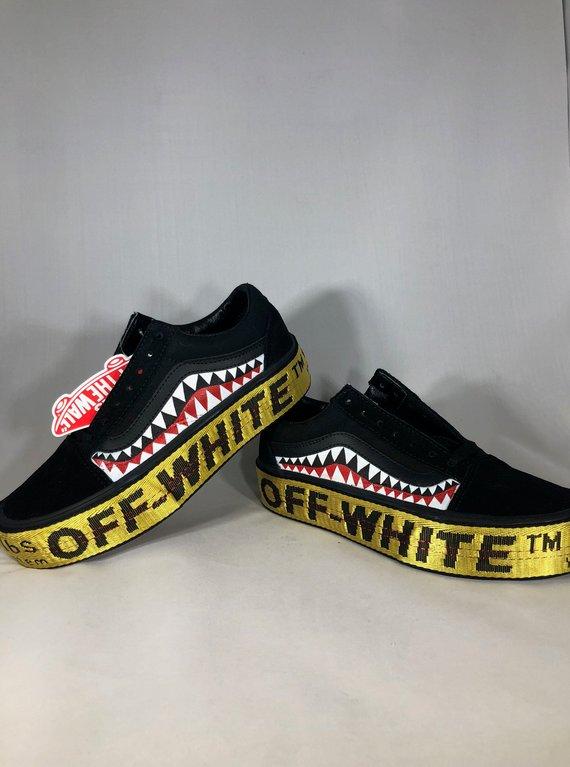 Vans x OFF-WHITE x Bape   Yeezy laces