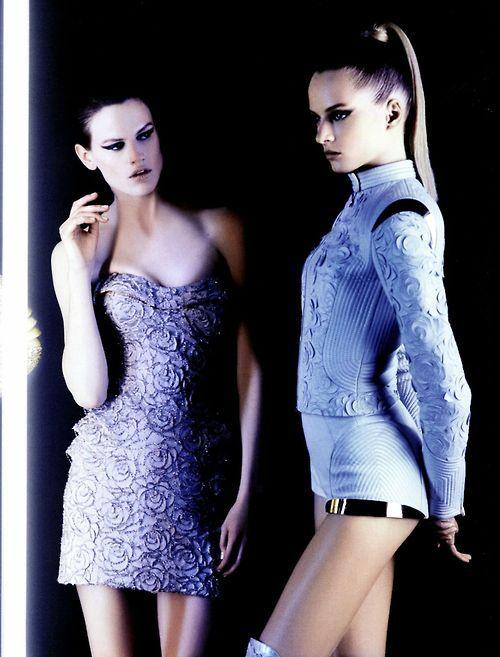 Saskia de Brauw & Daria Strokus by Karl Lagerfeld for Numéro #131