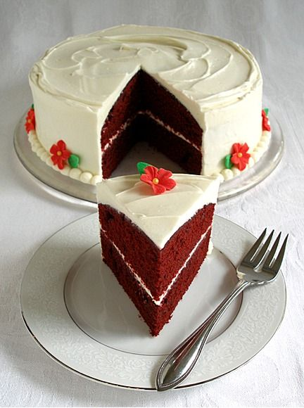 Red Velvet Layer Cake with Traditional Cream Cheese Frosting