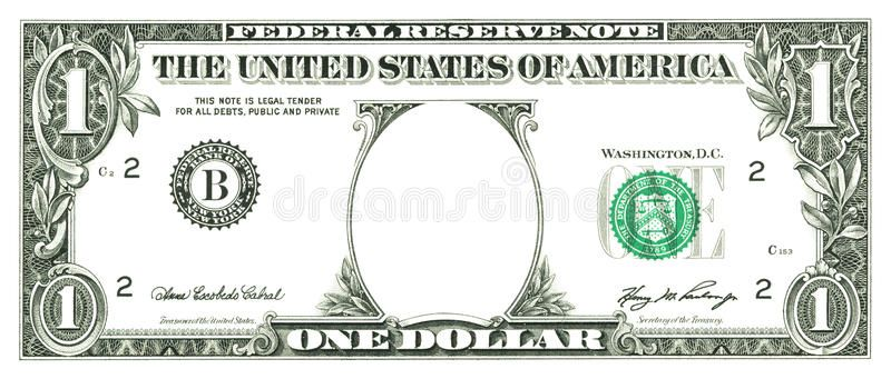 One Dollar Bill With A Hole Instead Of A Face Affiliate Bill