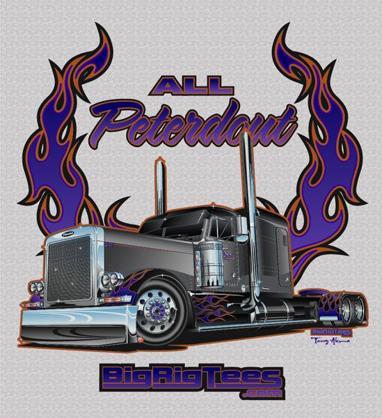 8ab38761f T-shirt design for BRT's retail line of T-shirts. Custom Peterbilt 379.