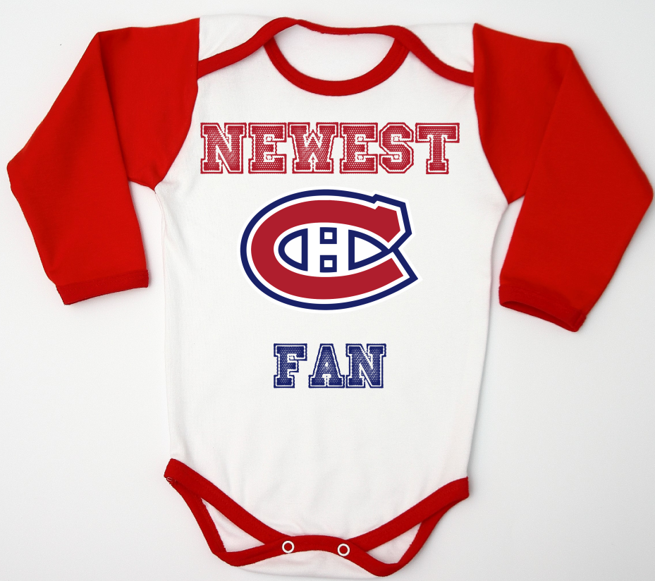 on sale 00630 48e65 Montreal Canadiens Baby Bodysuit Red | Burnin' up baby fever ...