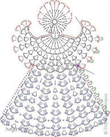 Schemino angelo uncinetto crochet de navidad pinterest schemino angelo uncinetto crochet de navidad pinterest crochet angel and crochet christmas dt1010fo