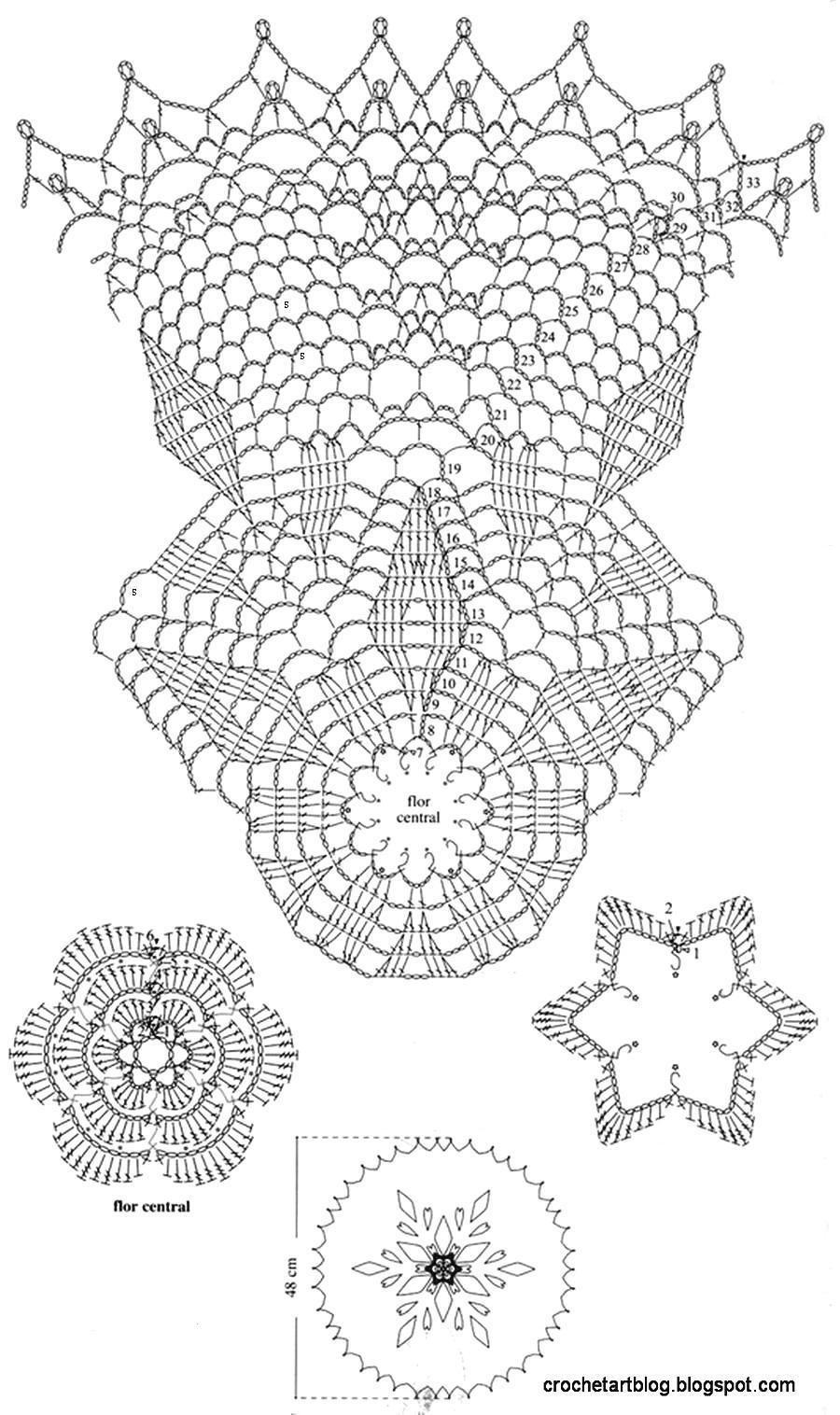 Free+crochet+Lace+Doily+Pattern+6.jpg 900×1.516 pixel | Uncinetto ...