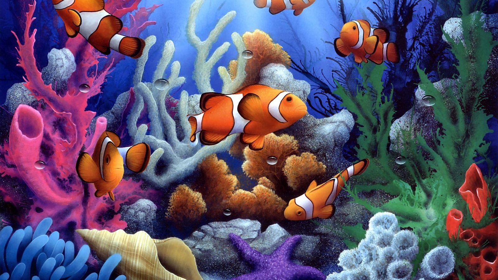 Dibujo De Color Para Imprimir Animales Peces Numéro 380319 Pinturas De Peces Fondo De Pantalla De Peces Fondo Marino Dibujo