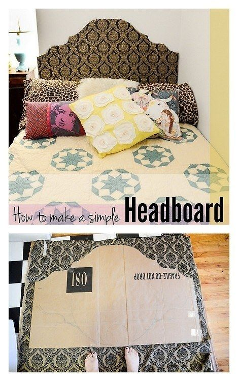 How to make your own fabric covered headboard for dorm rooms