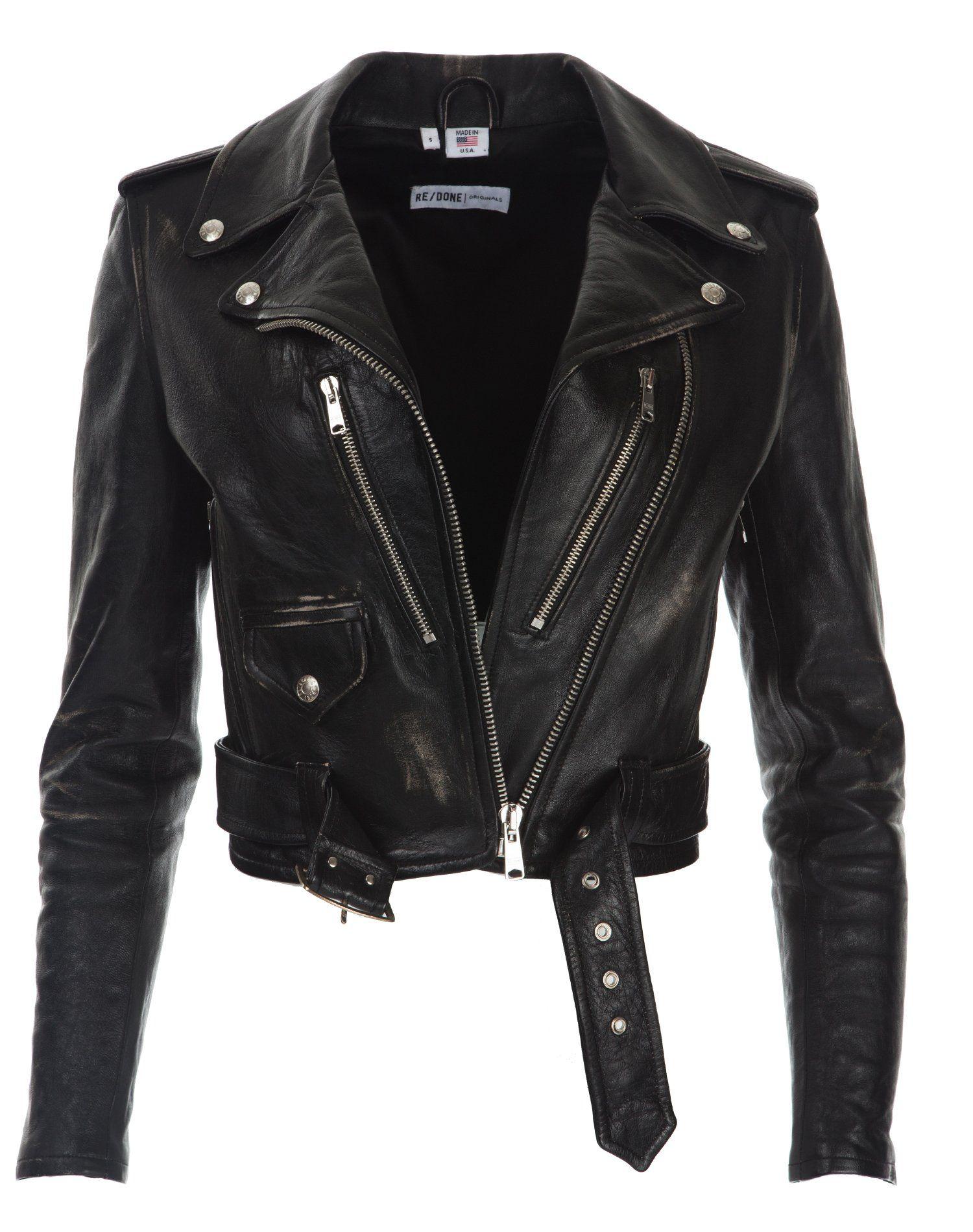 Re Done Leather Moto Jacket Vintage Black Size Medium In 2021 Leather Moto Jacket Vintage Leather Jacket Leather Jacket [ 1900 x 1500 Pixel ]