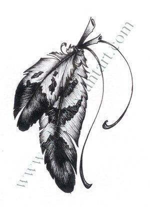 native american tattoos for women | tattoo design picture by Jerez Tattoo: native,american,indian,feather ...