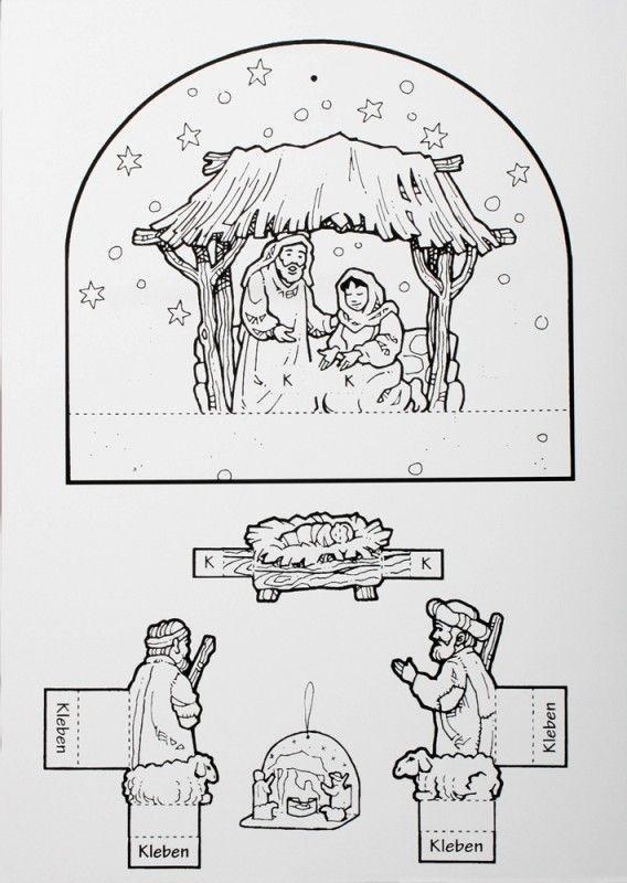 Knutselen Met Kleuters Jezus Is Geboren Nativity Free Printable Basteln Weihnachten Krippe Weihnachten Weihnachtsgeschichte Kinder