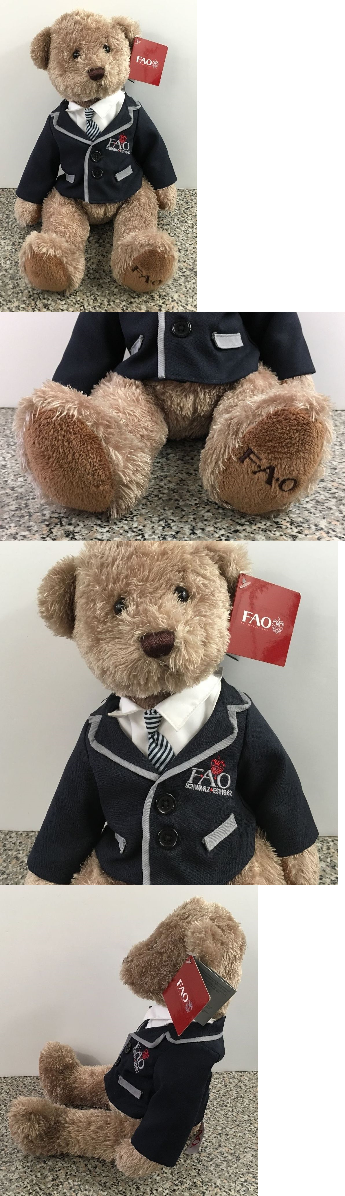 Teddy bear toys images  FAO Schwarz  Fao Schwarz Suit Tie Blazer Coat Teddy Bear Plush