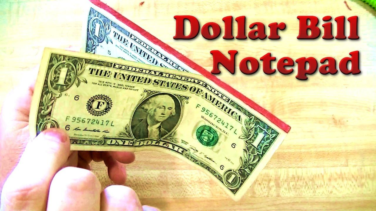 $1 US Currency Notepad Book Booklet 100 One Dollar Bills in a PAD Fun Gift