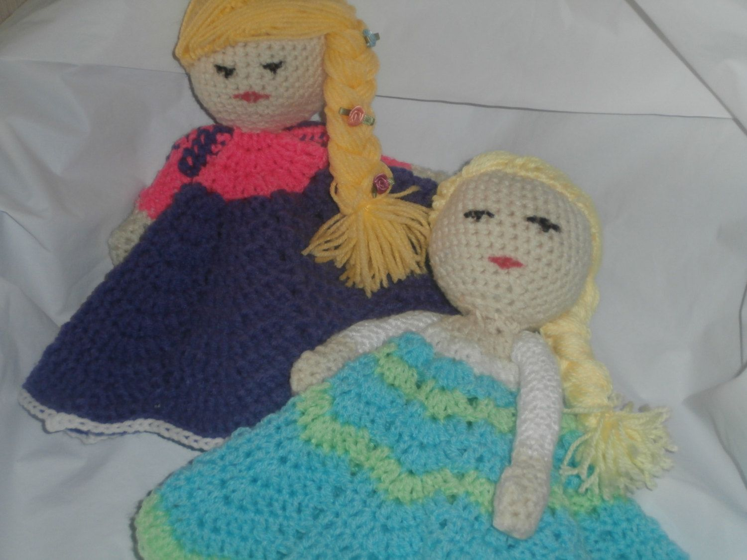 Crocheted baby buddy blanket doll. Crocheted your way.  Princess characters . Convo me with which one you would prefer. by ArtbySethHouse on Etsy