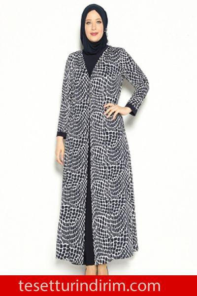 dab0081b7b021 2016 Sonbahar Kış Büyük Beden Tesettür Elbise Modelleri,  #büyükbedentesettürelbisemodelleri #kapalıgiyimi #Modanisa #sonbaharkış  #tesettürelbise ...
